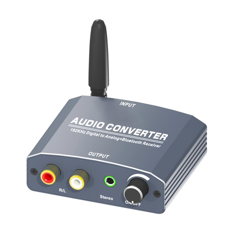 Convertidor de audio digital a analógico con receptor Bluetooth compatible con 192 kHz