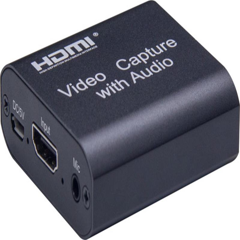 Captura de video HDMI V1.4 con salida de bucle HDMI, audio de 3.5 mm